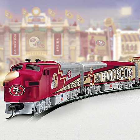 Collectible Nfl Football San Francisco 49Ers Express Electric Train Collection - Subscription Plan