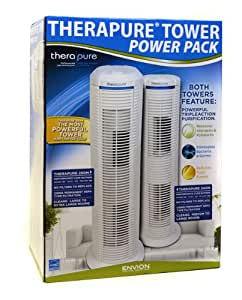 Therapure TTP240M and TTP250M Permanent HEPA Type Air Purifier - Power Tower 2 Pack