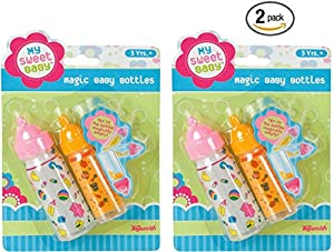 Magic Baby Bottles - 2 Bottles, 1 Milk and 1 Juice (2 Pack)