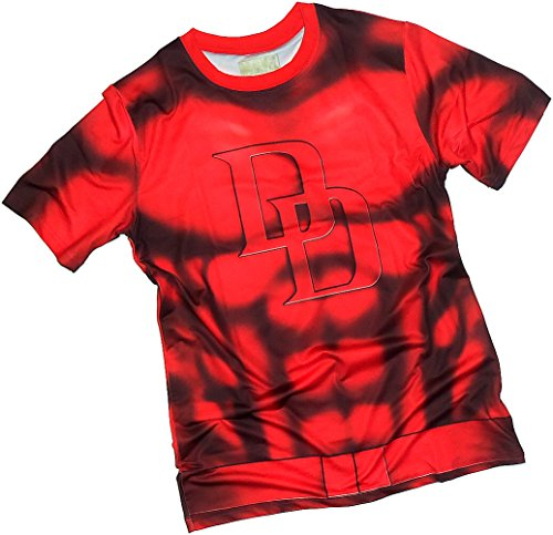 Costume -- Daredevil All-Over Front/Back Print Sports Fabric T-Shirt