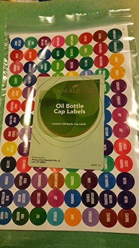 Young Living Essential Oil 5ml & 15ml Bottle Cap Labels - 1 New Complete Set