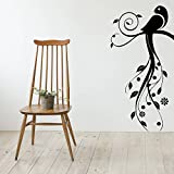Decal Style Bird Swirls Wall Sticker Large Size-21*42 Inch