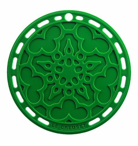 Le Creuset Silicone 8-Inch Round French Trivet (Fennel)