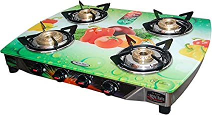 Surya Shine Green Veg SS 4 Burner Gas Cooktop