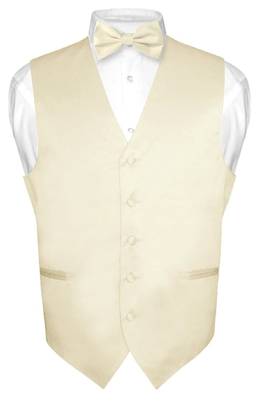 Men's Dress Vest Bowtie Cream