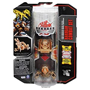 Bakugan Gundalian Invaders Brown Subterra Combat Set: Chompixx Battle Gear and Sabator