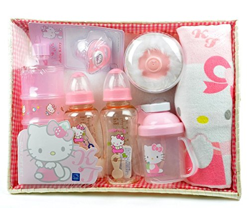 NEW Hello Kitty Baby PES Bottles Gift Set Baby Shower Gift BPA Free - 1