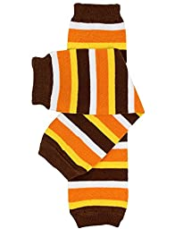 Halloween baby & toddler Leg Warmers for Girls & Boys in various styles (One Size (12 pounds to 10 years), Thanksgiving Stripe)