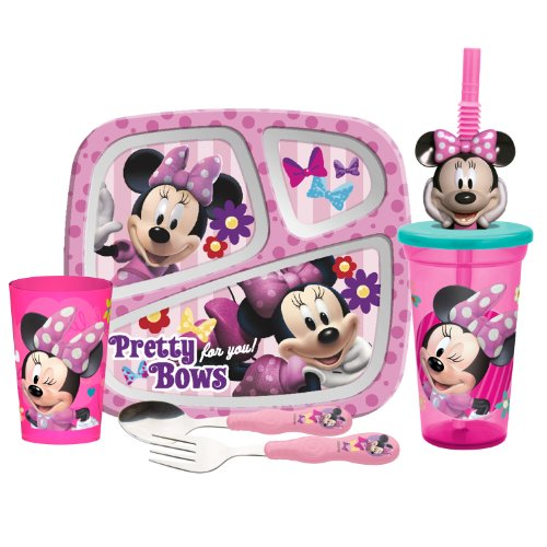 Zak Designs 5-Piece Minnie Mouse Mealtime Serveware Set