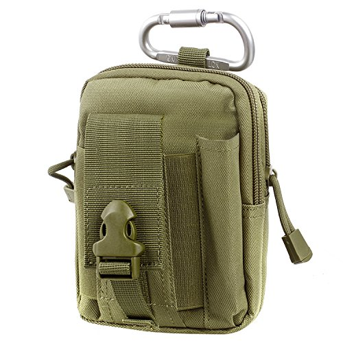 Compact Multipurpose Tactical Molle EDC Utility Gadget Pouch Tools Waist Bag with Cell Phone Holster Holder (Olivergreen) (Plate Carrier Removable Belt compare prices)