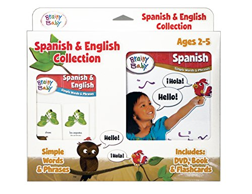 Brainy Baby Spanish and English Flashcards, DVD and Boardbook Collection Deluxe (Your Child Can Speak Spanish compare prices)