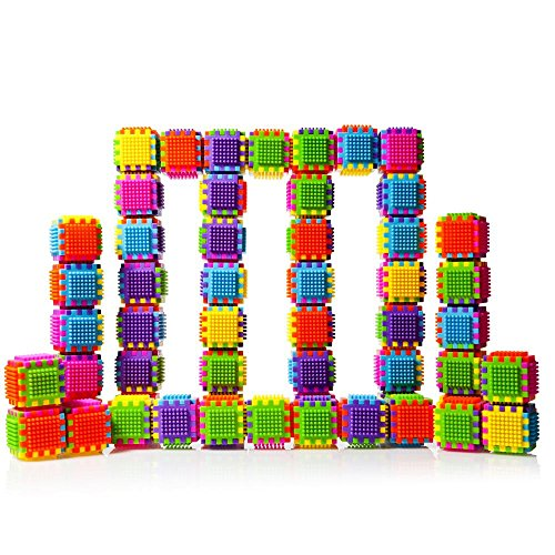 60-Piece-Stacking-Bristle-Blocks-and-Interconnecting-Building-Set-For-Boys-Girls-Educational-Fun-Great-for-Toddlers-and-Children-by-Dimple