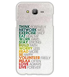 Life Quote 2D Hard Polycarbonate Designer Back Case Cover for Samsung Galaxy On5 (2015) :: Samsung On 5