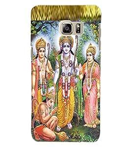 ColourCraft Lord Ram Laxaman Janaki and Hanuman Design Back Case Cover for SAMSUNG GALAXY NOTE 5 EDGE