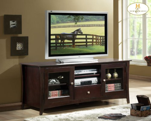Cheap Borgeois TV Stand in Espresso Finish (8740-T)