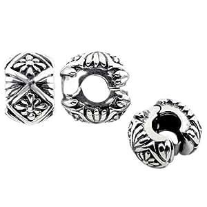 Storywheels Charm Silver-Oxidised/Pattern Stopp (1 Piece)