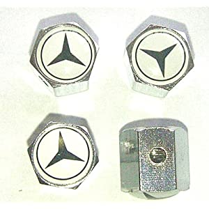Mercedes Benz Anti-theft Car Wheel Tire Valve Stem Caps