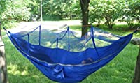 Crazy Shopping Camping Leisure Parachute Fabric Hammock with Mosquito Net by Crazy Shopping