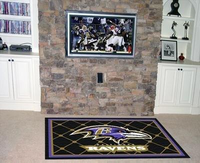 Baltimore Ravens 5x8 NFL Area Rug