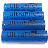 UltraFire New3.7V 14500 1200mAh Rechargable Li-Ion Batteries (4-count)