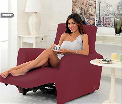 Copri Poltrona Genius Relax Lounge Per Poltrone Reclinabil Tinta Unita Colore Bordeaux 1003