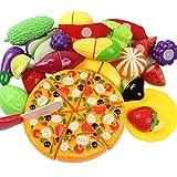 Goodlucky365 24種で1おままごと セット果物や野菜をカットするコスプレ子供用教育玩具