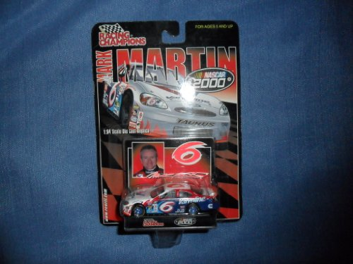 Mark Martin 2000 Racing Champions #6 Valvoline Ford Taurus 1/64 Diecast . . . Includes Stand and Collectors Card - 1
