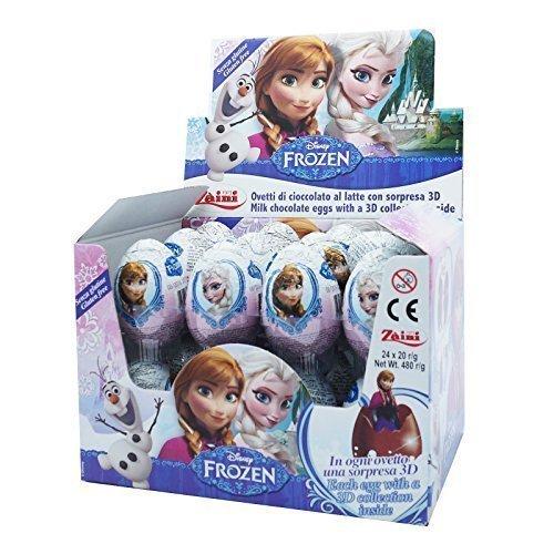 Disney Frozen Movie Chocolate Surprise Eggs, Zaini Ltd. [Box of 24]