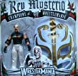 WWE WRESTLEMANIA EXCLUSIVE REY MYSTERIO FIGURE WITH WHITE/GOLD KIDS MASK