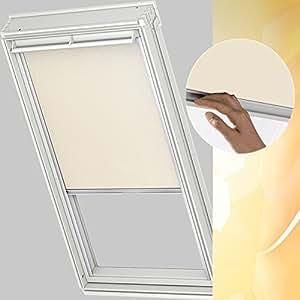 velux tenda per lucernario misure e colori assortiti ggl ghl ghu gpl m08 308 2 beige amazon. Black Bedroom Furniture Sets. Home Design Ideas