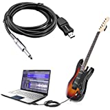 Neewer Guitar Bass To USB Link Cable Adapter for PC/MAC Recording
