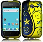 Royal Swirl Hard Case Cover Faceplate Protector for Huawei Ascend Y H866 / M866 / H866C ( Net10 / TracFone / U.S. Cellular ) with Free Gift Reliable Accessory Pen