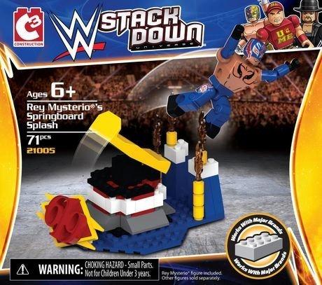 Rey Mysterio's Spingboard Splash WWE Stack Down 65 Piece Set
