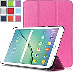 Samsung Galaxy Tab S2 9.7 Case - HOTCOOL Ultra Slim Lightweight SmartCover Stand Case For 2015 Released Samsung Galaxy Tab S2 9.7-Inch Tablet(With Smart Cover Auto Wake/Sleep), Magenta