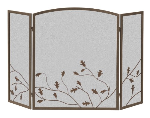 Panacea Products 15914 3-Panel Oak Leaf Fireplace Screen picture