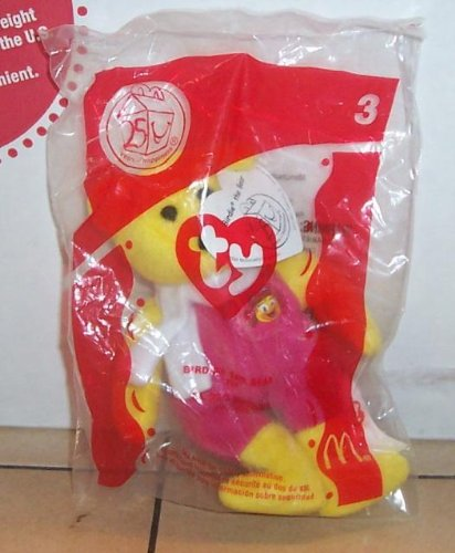 2004 Mcdonalds Ty Beanie Baby Birdie the Bear Happy Meal Toy #3 MIP