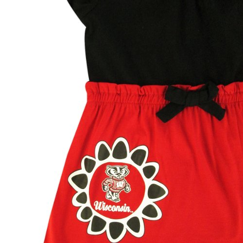 Wisconsin Badgers Toddler Daisy Red Dress the colosseum