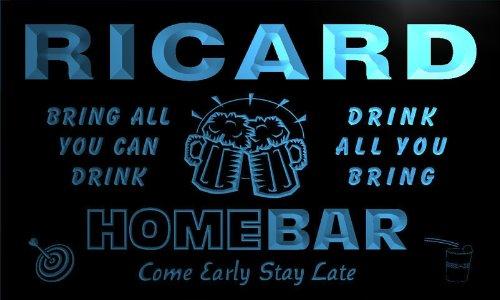 q37462-b-ricard-family-name-home-bar-beer-mug-cheers-neon-light-sign