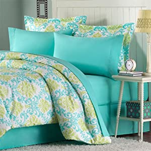 Mizone Katelyn 85GSM Sheet Set - Teal - Queen