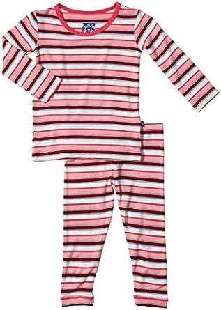 KicKee Pants Baby Girls' Print PJ Set (Baby) - Bobsled Stripe - 0-3 Months