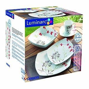 Luminarc 5036145 herbiers service de table 6 assiettes 6 creuses 6 desser - Service vaisselle luminarc ...