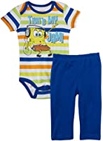 Nickelodeon Baby Boys' Spongebob Creeper Pant Set (Baby) - Blue