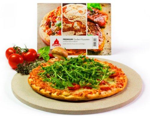 Pierre à pizza Cordierite en céramique - environ 32cm - certifié alimentaire