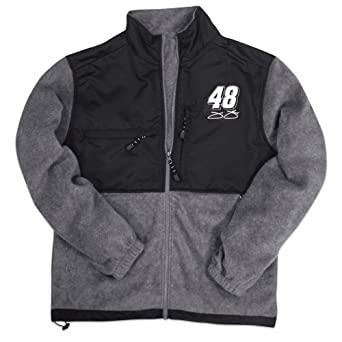 Jimmie Johnson NASCAR Zip Front Fleece Jacket by Checkered Flag