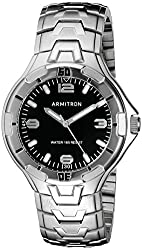 Armitron Men's 20/5081BKSV Silver-Tone Bracelet Watch