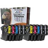 10 Druckerpatronen Brother LC1220 LC1240 LC1280 für Brother MFC 5910 6510 6710 6910 MFC-j5910DW MFC-j6510DW MFC-j6710DW MFC-J6910DW / Brother DCP 525 725 925 DCP-J525W DCP-J725DW DCP-J925DW (kompatibel, sie bekommen 4 x schwarz 2 x blau 2 x rot 2 x gelb) Füllmenge (30ml je schwarz 23ml je blau rot gelb Patrone)
