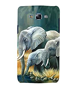 Fuson Premium Back Case Cover Elephant pattern With White Background Degined For Samsung Galaxy Grand Neo Plus::Samsung Galaxy Grand Neo Plus i9060i