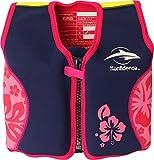 The Original Konfidence Children's Swim Jacket - Navy/Pink/Hibiscus (18 Months-3 Years)