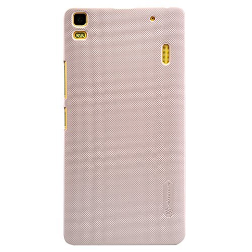 Newtronics Gold Colour Smart Nillkin Super Frosted Shield Leather Holster Hard Bumper Back Cover Case For Lenovo A7000 & Lenovo K3 Note  available at amazon for Rs.399