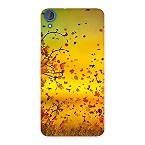 Enticing Flying Autumn Leaves Back Case Cover for HTC Desire 820